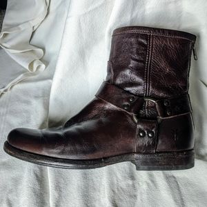 Frye Phillip Harness Boots, Short Style, Size 7.5
